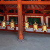 Lanterns hanging in the Kasuga-taisha Shrine, Nara, Japan