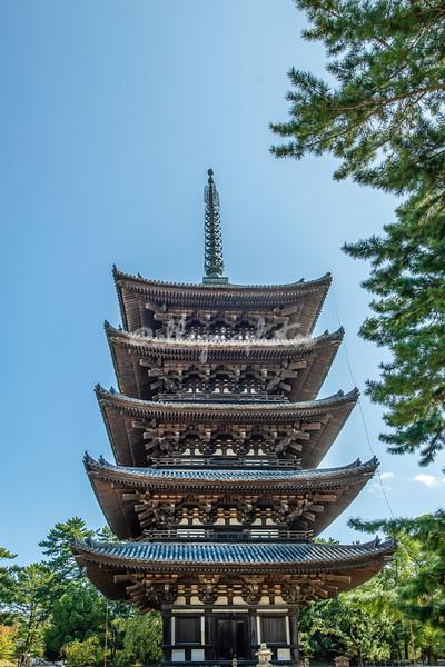 Five-tiered Pagoda, Kofukuji Temple, Nara, Japan