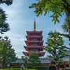 Five-storied Pagoda, Sensoji Temple, Asakusa, Tokyo