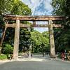 Meiji Jingu Torii Gate, Meiji Shrine, Shibuya, Tokyo, Japan