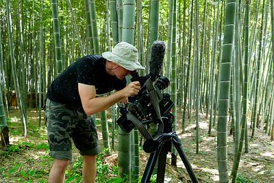 21 Matthew Allard ACS filming Arashiyama Bamboo forest © David Bickerstaff