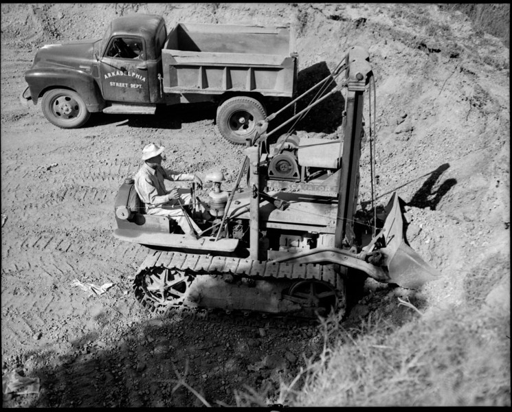 City of Arkadelphia D-2 Traxcavator J.B. Swearington Operator