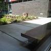 Sit spot near the rain garden bio-swale.  Used bu the students for observing the rain garden.