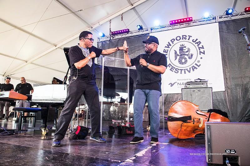 Herbie Hancock  /  Chrsitian McBride  2019 Newport Jazz Festival   dsc_HC667