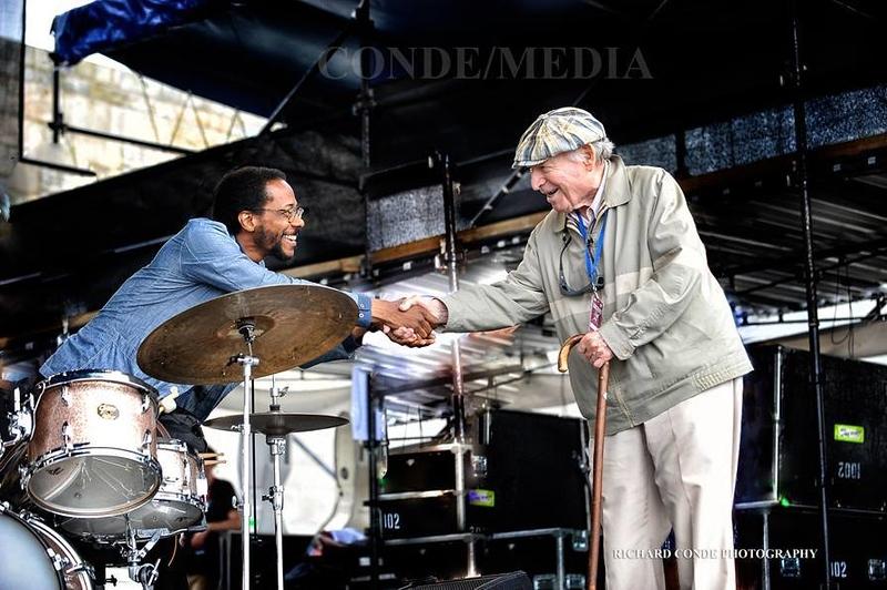 Brian Blade  /  George Wein  /  Newport Jazz Festival  /  dsc_BBGW98