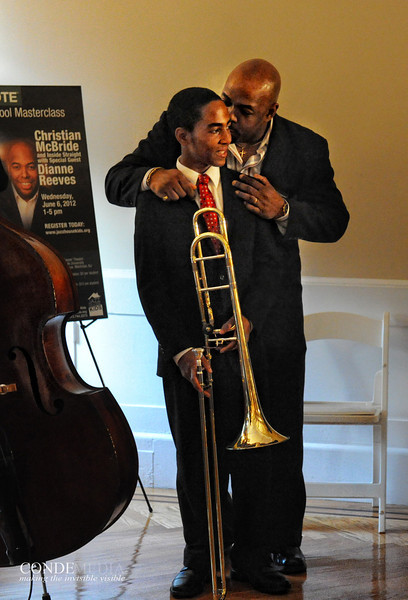 """CHRISTIAN McBRIDE AND YOUNG STUDENT / PHOTO OF THE YEAR 2012 SELECTIONS 10  <a href=""""http://www.facebook.com/richardcondemedia"""">http://www.facebook.com/richardcondemedia</a>   <a href=""""http://www.instagram.com/richard_conde_photography/"""">http://www.instagram.com/richard_conde_photography/</a>"""