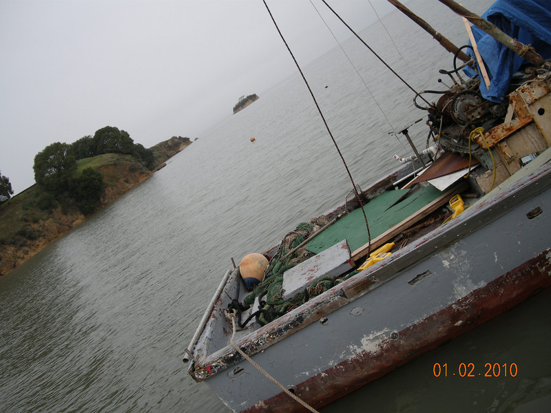 One of the shrimp boats