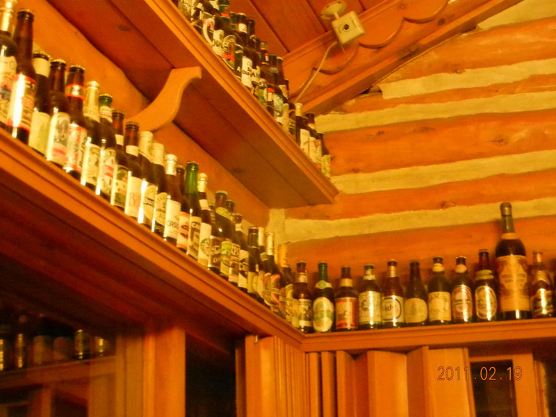 Beer bottle at Yosemite View Lodge