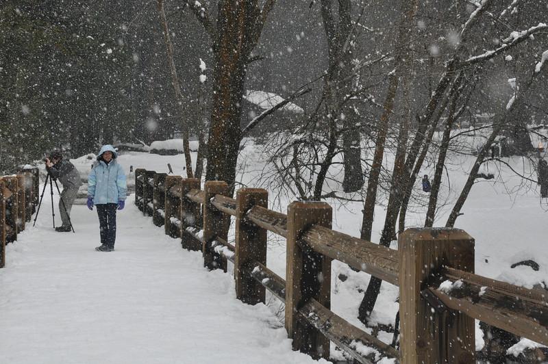 Snow on Belinda....