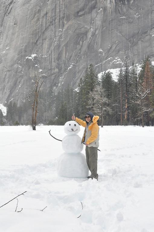 My Snowman Friend...