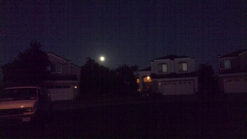 06/12/2014 - full moon hanging low...