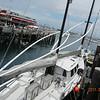 06/11/11 - Monterey, CA. A sail boat in fishermen's wharf.
