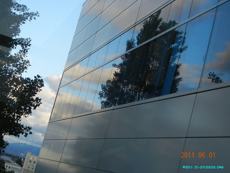 06/01/11 - Late afternoon walk. I like the reflection of the trees and clouds.