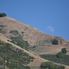 07/09/11 - Mission Peak, Fremont, CA. I saw the moon hanging low around 4:30pm