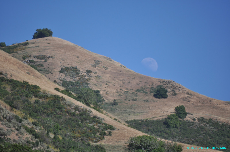07/09/11 - Mission Peak, Fremont, CA. I saw the moon hanging low around 4:30pm