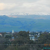 03/18/11 - Snow on East Bay Hills. It was raining in the morning I got in. Someone told me there is snow on the hills late in the afternoon. I was thinking it might be cloudy but it is clear enough for decent shots. I even got a sunset colored cloud.