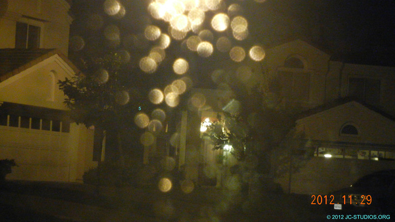 11/29/2012 - Bokeh. Windshield raindrops