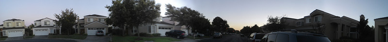 06/12/2013 - Happy Wednesday! Dusk, not a single cloud in the sky. Phone panorama mode.