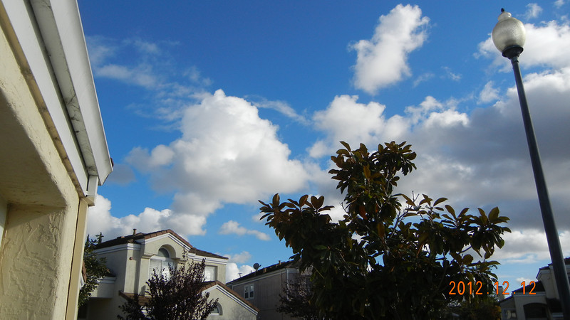 12/12/2012 - Happy 12/12 day... Clouds and blue skies after raining a whole night