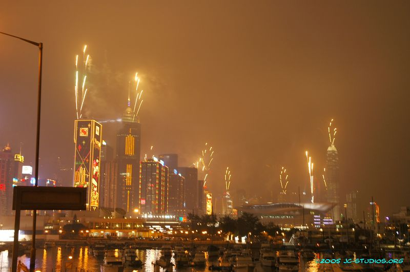 Christmas Eve Fireworks, Hong Kong, China