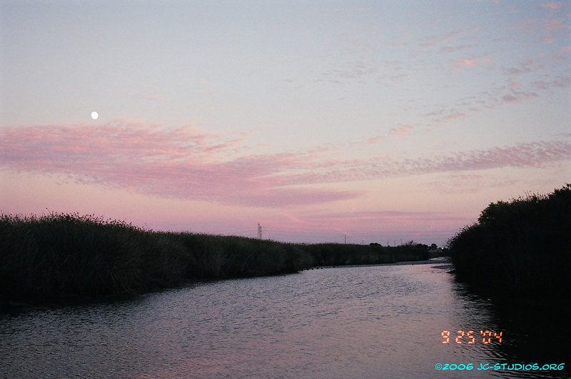 Full moon over Slough, Don Edwards Wildlife Refuge, Alviso, CA