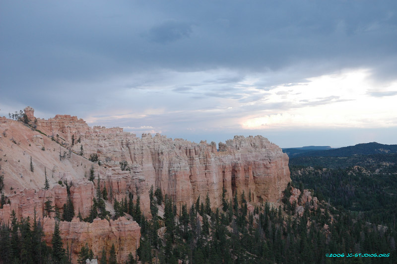 Cloudy Skies at Dusk, Bryce Canyon National Park, UT