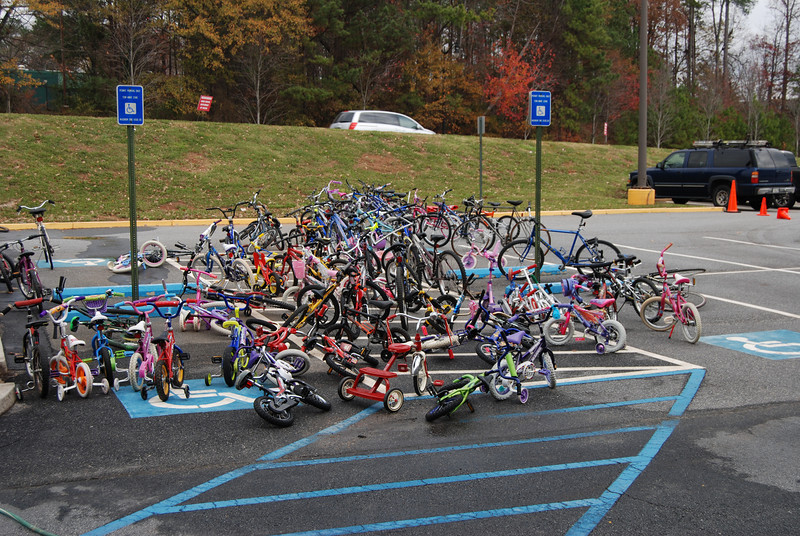 Wow, that'a lot of bikes.