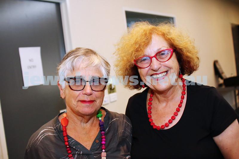 JCCV plenum. Janice Huppert (left), Faye Dubrowin.  Photo: Peter Haskin