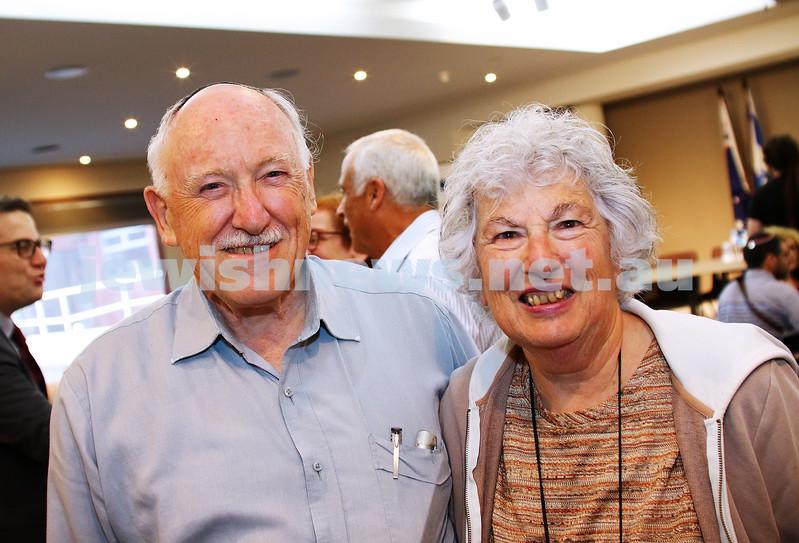JCCV plenum. Paul and Helen Gardner. Photo: Peter Haskin