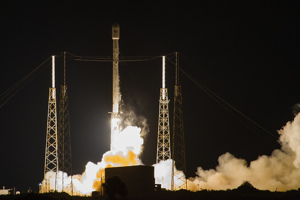 Falcon 9 by SpaceX with the JCSAT14 on top