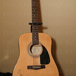 A guitar signed by Carrie Underwood was an auction item.