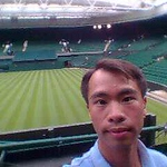 JC at Wimbledon center court