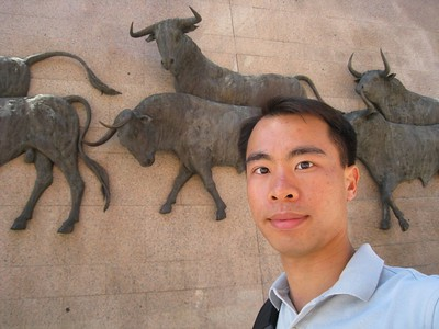 JC with wall of bulls(2)