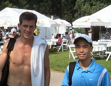 Tim Henman and me - Closeup