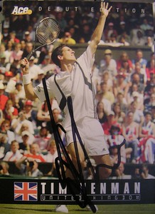 Tim Henman's Rookie Card (Autographed)