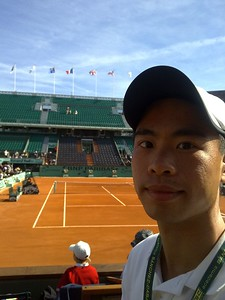 JC at French Open