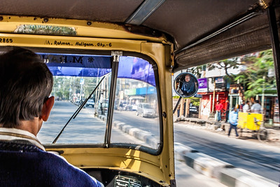 Auto Rickshaw Ride. Guwahati, Assam India