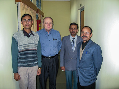 Jim Wyant and symposium organizers