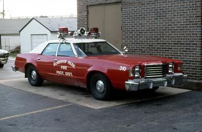 ROBERTS PARK FPD  CAR 310