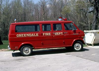 GREENDALE FD  CAR 408  1969  FORD ECONOLINE VAN
