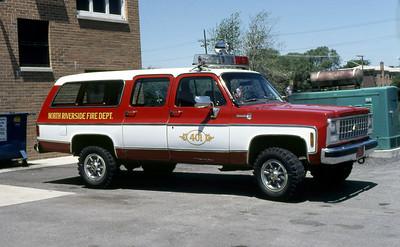 NORTH RIVERSIDE FD  CAR 401  CHEVY SUBURBAN