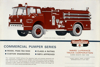 WARD LAFRANCE COMMERCIAL CHASSIS BROCHURE