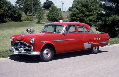 FIRE CHIEF CAR  1951  PACKARD    BRIAN MILLER OWNER   RON MANWARING PHOTO