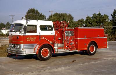LAKE CHARLES FD LA  ENGINE 5  MACK C95   1250-500   WES HAMMOND PHOTO