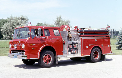 MENOMINEE FALLS FD WI  ENGINE 414  1981  FORD C - MARION   750-500