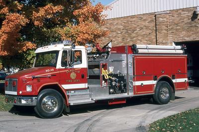 LAMOILE FD  ENGINE 48  1995  FREIGHTLINER FL80 - PIERCE   1250-1000   JDS PHOTO