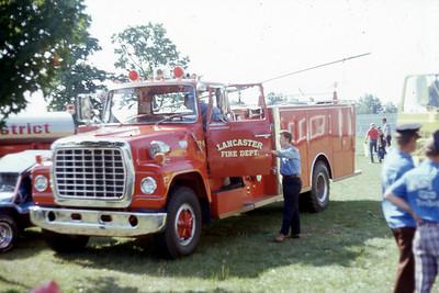 LANCASTER FD WI   ENGINE 4  AT 1975 MONROE FIRE SCHOOL