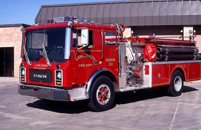 LAKE ZURICH FD  ENGINE 212  1983  MACK MC   1250-1000   MC611F12-1125   GARY KADZ PHOTO