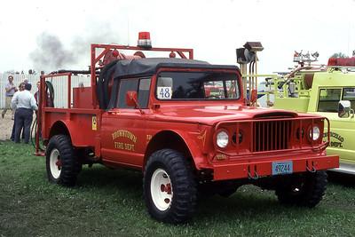 BROWNTOWN FD WI  BRUSH 731  KAISER - FD BUILT   AT 1980 MONROE FIRE SCHOOL   JDS PHOTO