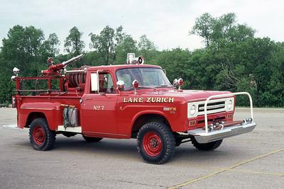 LAKE ZURICH FD  BRUSH 7  IHC 1200 4X4 - FD BUILT   JDS PHOTO